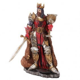 Hand Painted King Arthur Statue