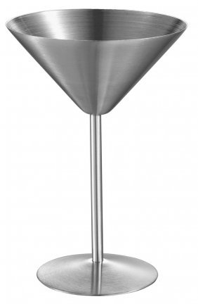 Visol Charlotte Stainless Steel Martini Glass