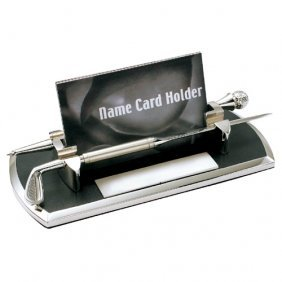 Distance Golf Themed Chrome Plated Business Cards Case