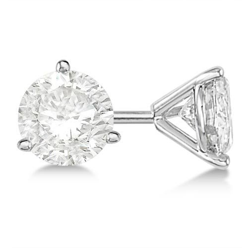 2.50ct. 3-Prong Martini Diamond Stud Earrings Platinum