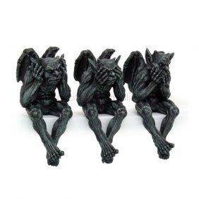 Gargoyle See, Hear, Speak No Evil Shelf Sitters