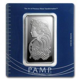 100 Gram Silver Bar - Pamp Suisse (fortuna)