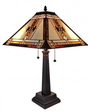 Tiffany Style Mission Design Table Lamp 22 In