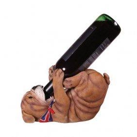 English Bulldog Guzzler Wine Holder