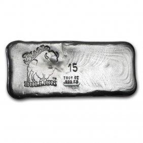 15 Oz Silver Bar - Bison Bullion