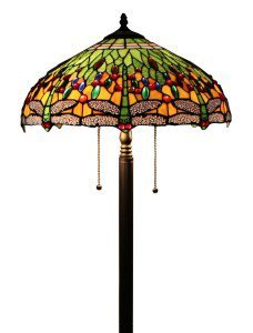 Tiffany Style Dragonfly Floor Lamp 18