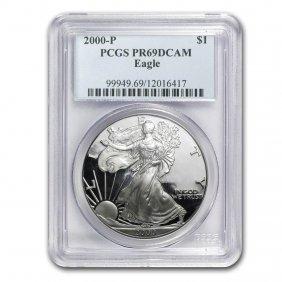 2000-p Proof Silver American Eagle Pr-69 Pcgs