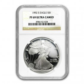 1992-s Proof Silver American Eagle Pf-69 Ngc