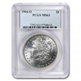 1904-o Morgan Dollar Ms-63 Pcgs