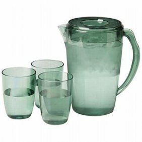 Lacuisine 4pc Covered 2.3qt Pitcher And Cup Set
