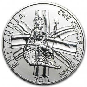2011 Great Britain 1 Oz Silver Britannia Bu
