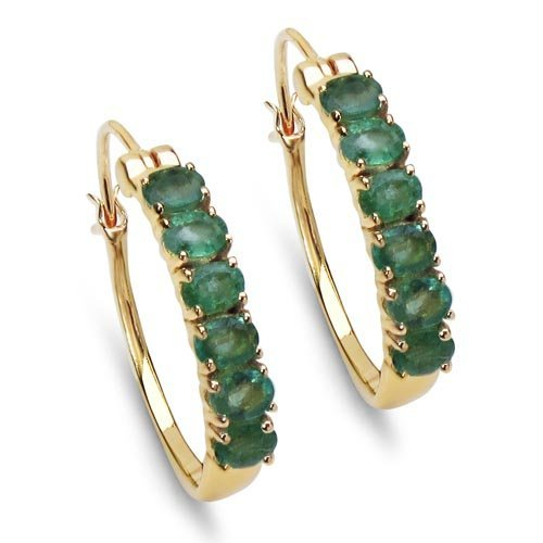 Emerald:Oval/4x3mm 12/1.80 ctw