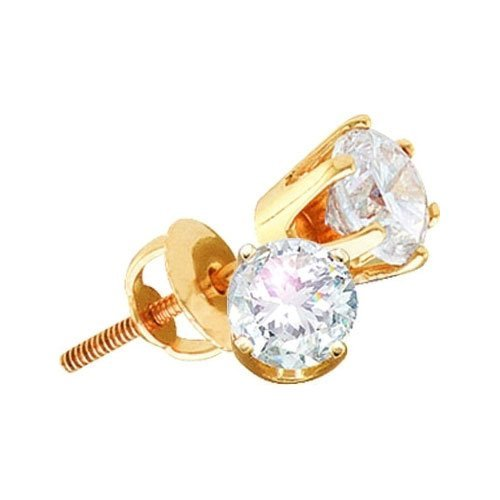 14KT Yellow Gold 1.00CTW ROUNDDIAMOND EARRINGS (EXCEL)