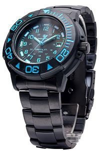 Smith And Wesson Divers Blue Tritium Watch Metal And Ru