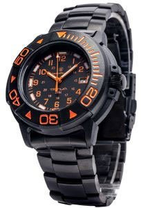 Smith And Wesson Diver Orange With Tritum Watch Metal A