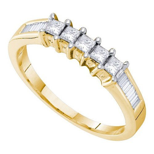 14KT Yellow Gold 0.50CT DIAMOND INVISIBLE BRIDAL RING