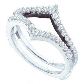 14kt White Gold 0.47ctw Diamond Fashion Band