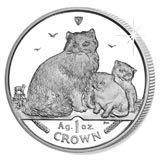 Isle of Man 2007 1 Crown Silver Proof Ragdoll Cat