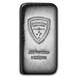 1 kilo Silver Bar - Southern Cross Bullion (Cast)