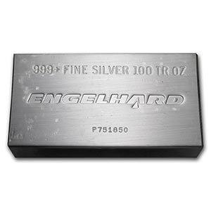 100 oz Silver Bar - Engelhard (Struck, w/Original Plast