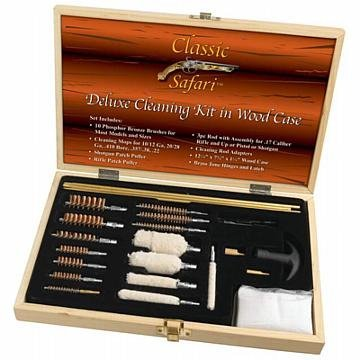 Classic Safari Deluxe Cleaning Kit in Wood Case