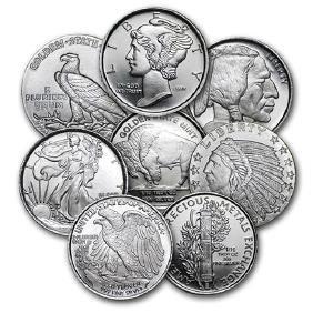 1/10 oz Silver Round - Secondary Market 1 PEICE PER LOT