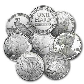 1/2 oz Silver Round - Secondary Market 1 PEICE PER LOT