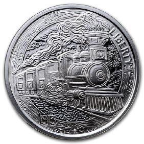 1 oz Silver Round - Hobo Nickel Replica (The Train)