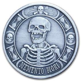 1 oz Silver Round - Memento Mori (Antique Finish)