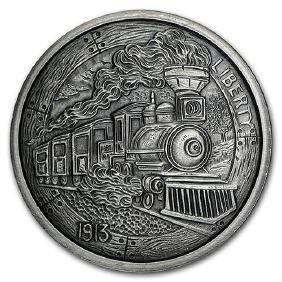 5 oz Silver Antique Round - Hobo Nickel Replica (The Tr