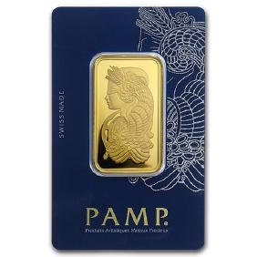 1 oz Gold Bar - PAMP Suisse Lady Fortuna Veriscan In As