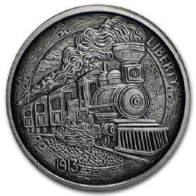 1 oz Silver Antique Round - Hobo Nickel Replica (The Tr