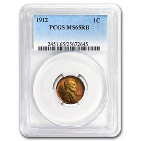 1912 Lincoln Cent MS-65 PCGS (Red/Brown)