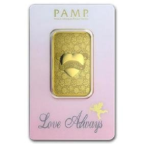 1 oz Gold Bar - PAMP Suisse Love Always (In Assay)