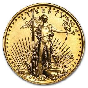 1994 1/10 oz Gold American Eagle BU