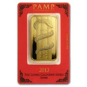 100 gram Gold Bar - PAMP Suisse Year of the Snake (In A