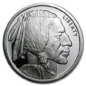 5 oz Silver Round - Buffalo