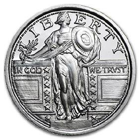 1/4 oz Silver Round - (Standing Liberty Quarter)
