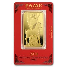 100 gram Gold Bar - PAMP Suisse Year of the Horse (In A