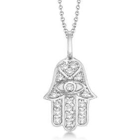 Petite Diamond and Emerald Wedding Band 14k White Gold