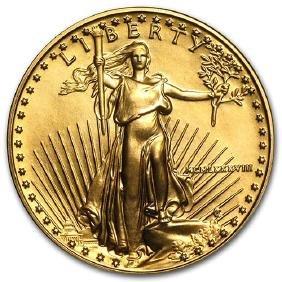 1988 1/2 oz Gold American Eagle BU (MCMLXXXVIII)