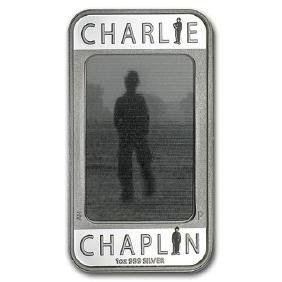 2014 1 oz Silver Charlie Chaplin 100 Yrs of Laughter Re