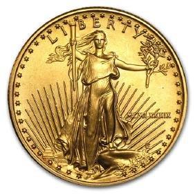 1989 1/2 oz Gold American Eagle BU (MCMLXXXIX)