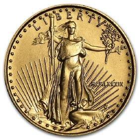 1989 1/10 oz Gold American Eagle BU (MCMLXXXIX)