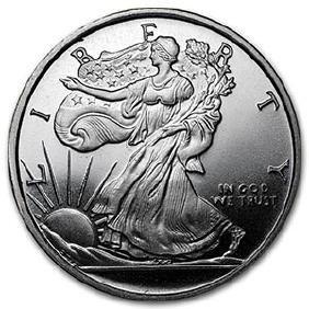 1/2 oz Silver Round - (Walking Liberty Half-Dollar)