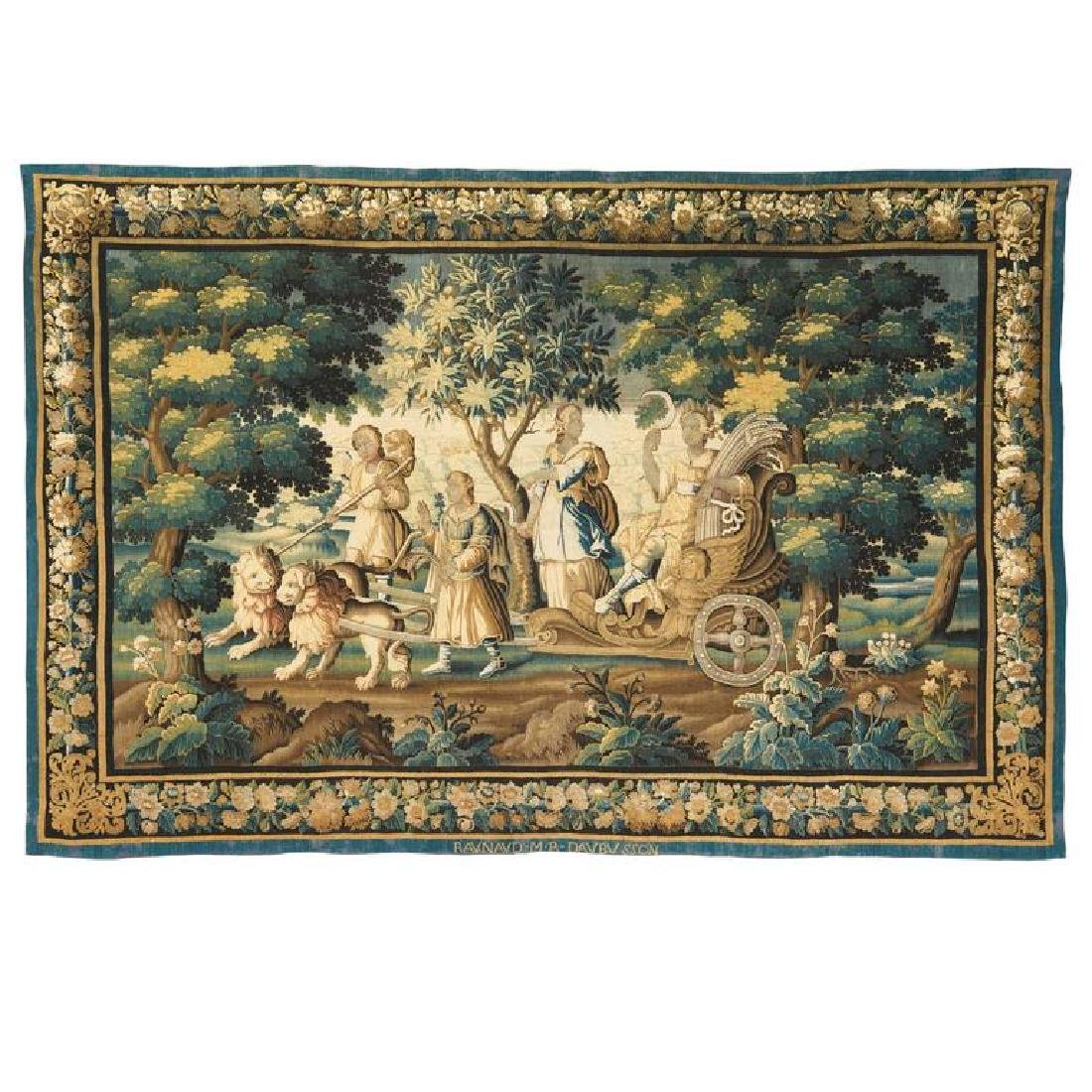 Important French Abusson Allegorical Tapestry of Summer