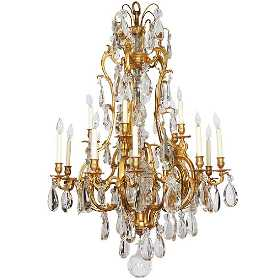 Vintage baccarat chandeliers for sale antique baccarat chandeliers french ormolu bronze baccarat glass rock crystal fift aloadofball Image collections
