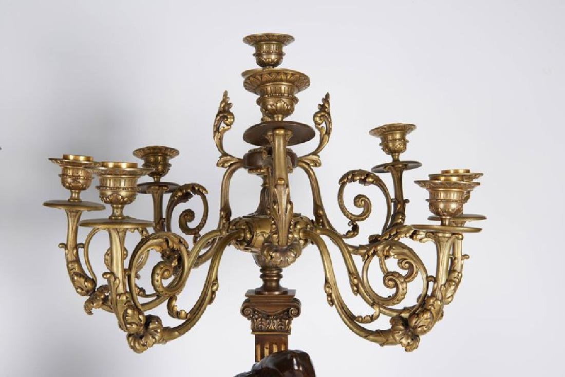Ferdinand Barbedienne, a Large Pair of French Gilt Pati - 4