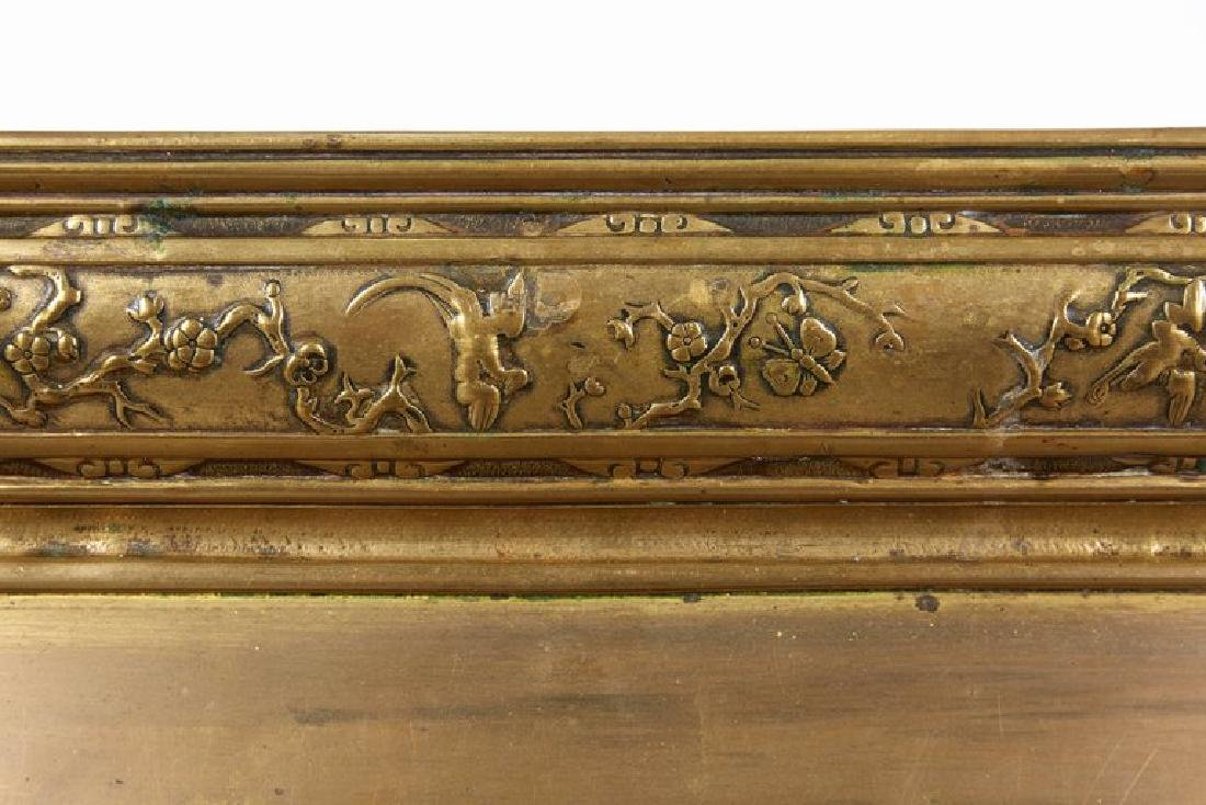 Large French Japonisme Bronze Two Handle Tray, 19th - 6