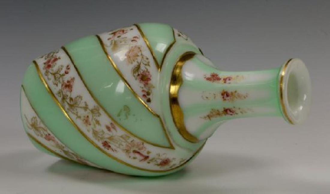 19th C. Bohemian Overlay Glass Decanter & Goblet - 4